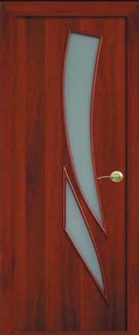 Дверь Фрегат ПО-012, матовое, цвет итальянский орех, остекленная