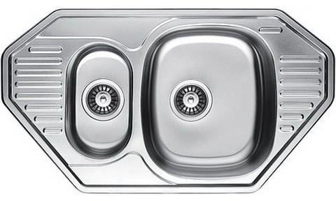 Кухонная мойка врезная двойная из нержавеющей стали Kaiser KSS-8547