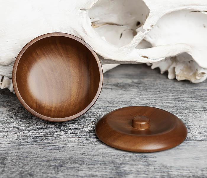 RAZ342 Деревянная чаша для бритья с крышкой фото 05