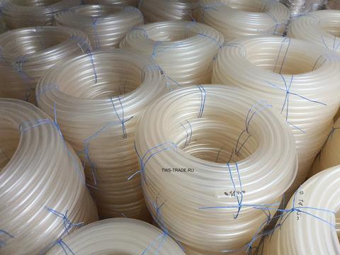 Шланг Ø 14 мм толщина стенки 5 мм прозрачный силиконовый (25 м в бухте)