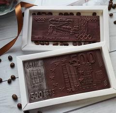 Пластиковая форма для шоколада ср. ДЕНЕЖНАЯ КУПЮРА 500 ЕВРО