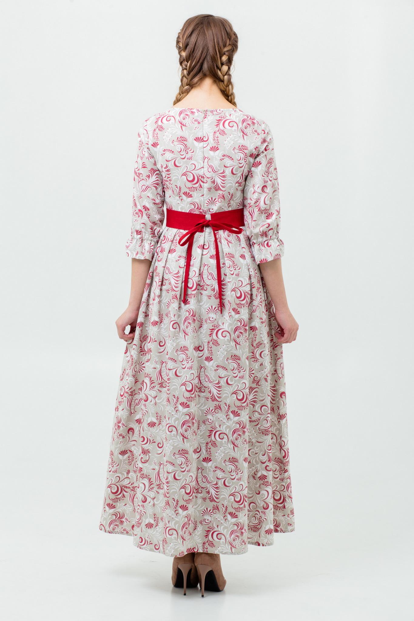 Русское платье из льна с доставкой
