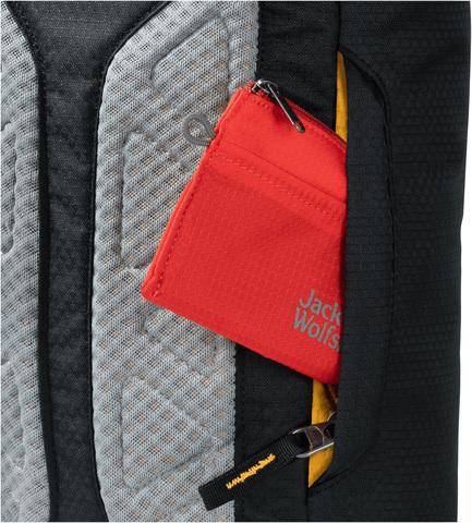 Картинка рюкзак однолямочный Jack Wolfskin Ecoloader 12 Bag Black - 5
