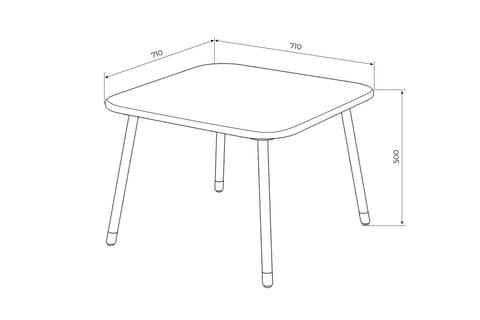 Детский столик Mini (квадратный)