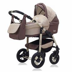 Детская коляска FENIX PCOF (3 в 1) (BartPlast) бежевый/коричневый 05