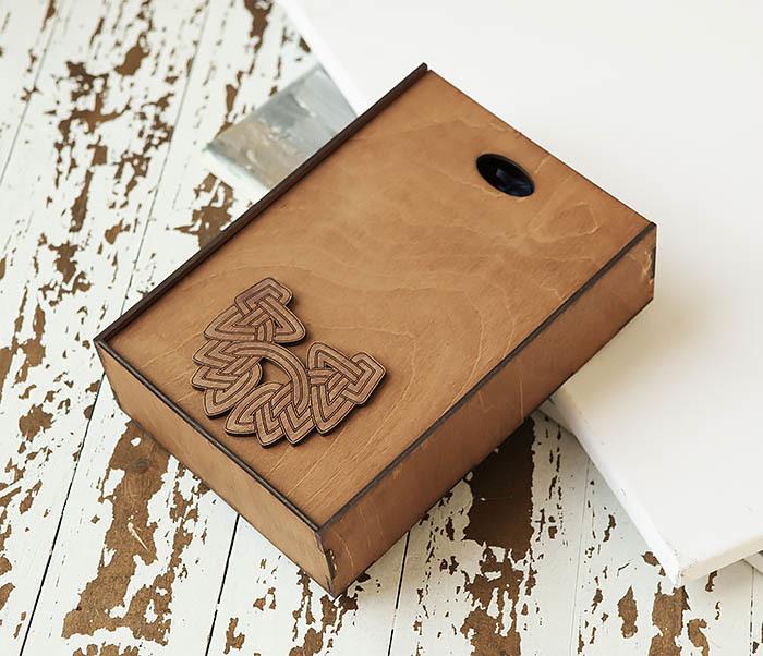 BOX230-2 Фирменная коробка для подарков коричневого цвета (18*26*7,5 см) фото 03