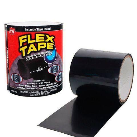 Клейкая лента Flex Tape усиленная 20 сантиметров (чёрная)