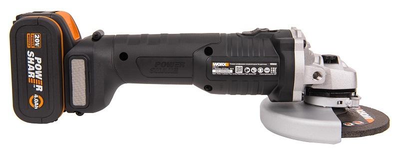 Угловая шлифмашина аккумуляторная WORX WX812