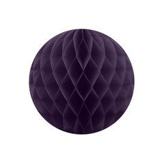 Бумажный Шар-соты 30 см Фиолетовый