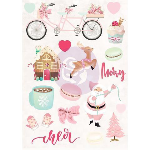 Стикеры объемные из коллекции Santa Baby от Prima Marketing- 18 шт
