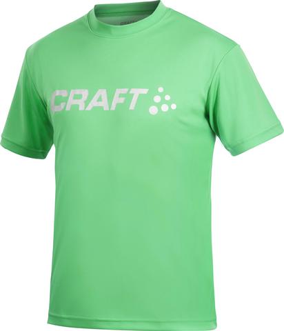 Футболка Craft Active Run Logo мужская зеленая