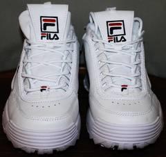 Повседневные женские кроссовки Fila Disruptor 2 all white RN-91175