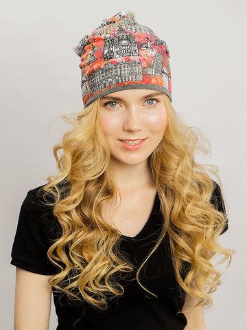 Авторский принт Санкт-Петербург на шапке - стильная летняя шапочка