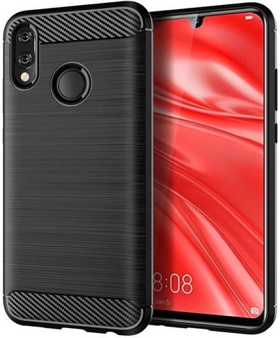 Чехол для Huawei Honor 10 lite (P Smart 2019 и Nova Lite3) цвет Black (черный), серия Carbon от Caseport