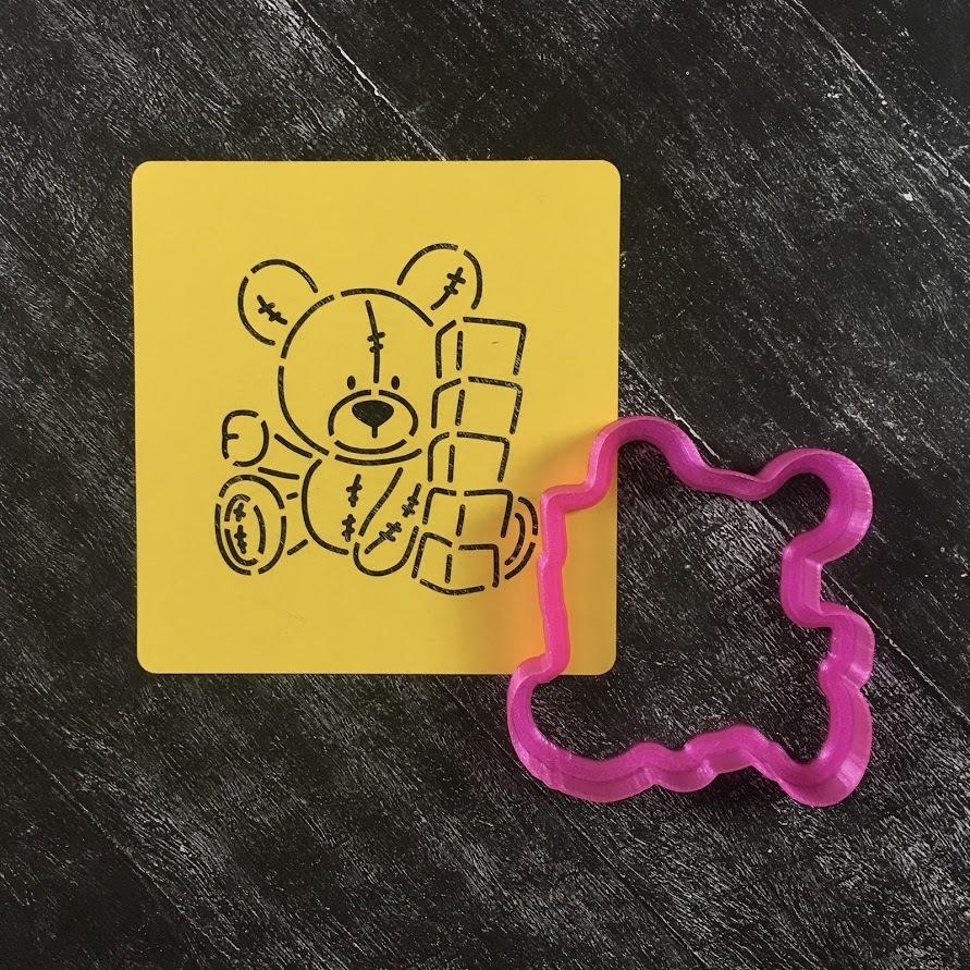 Мишка с кубиками №1