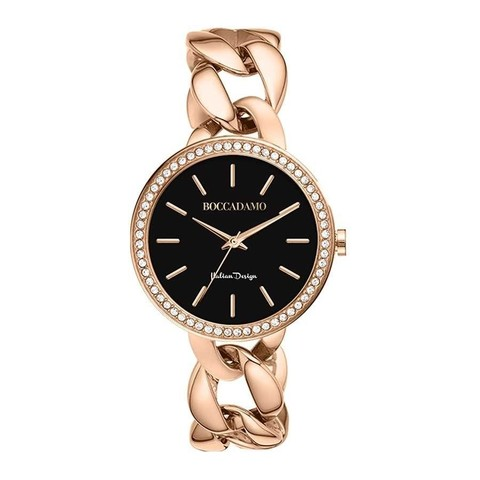 Часы LadyB Rosegold Black LB008 BW/RG