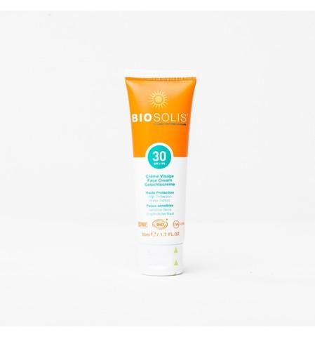 biosolis spf 30 органический солнцезащитный крем для лица