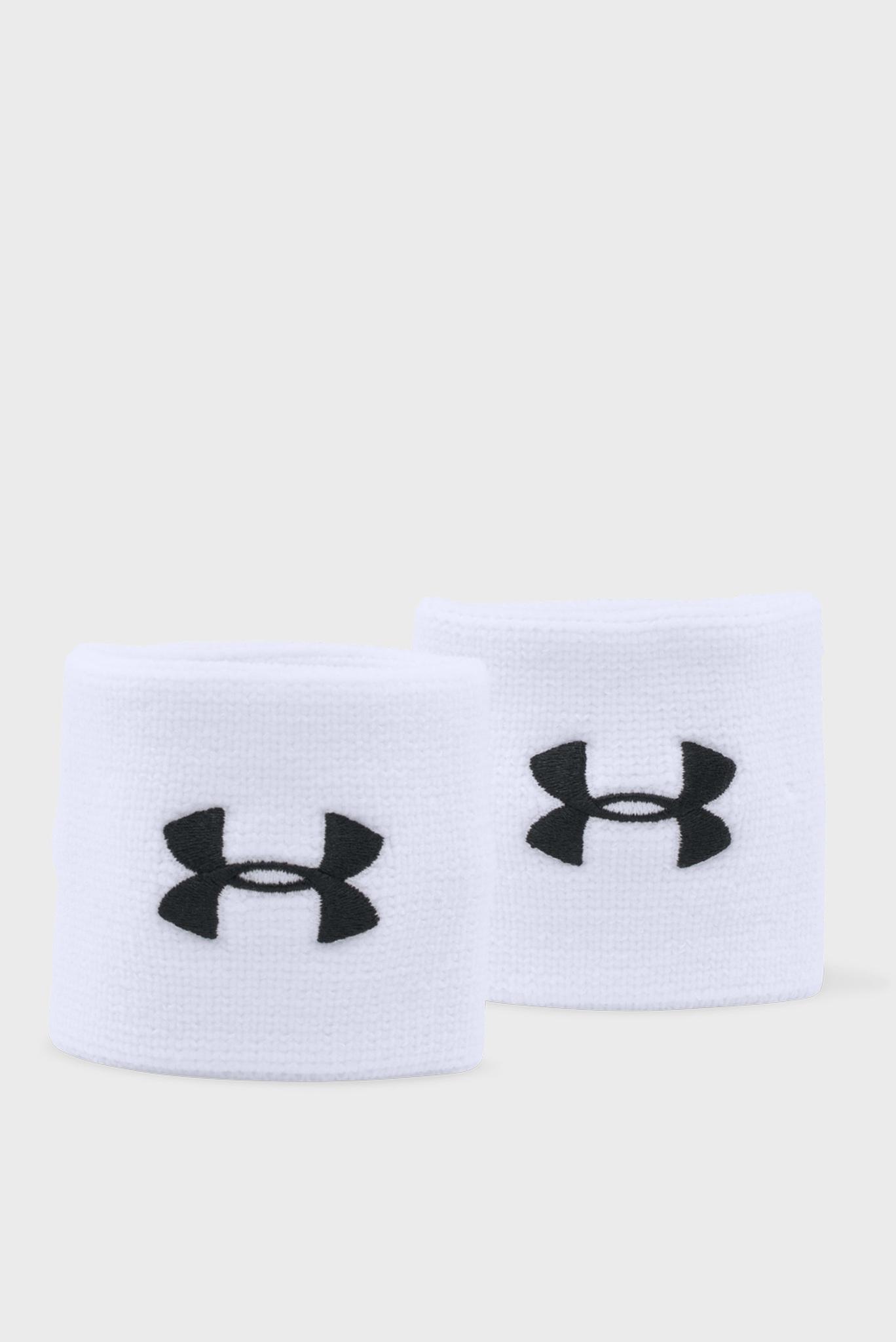 Белый напульсник Performance Wristbands (2 шт) Under Armour