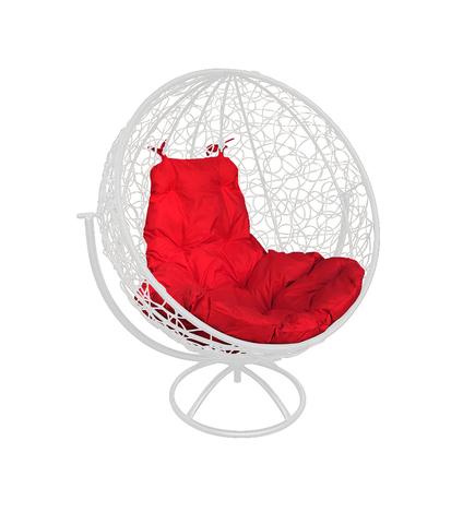 Кресло вращающееся Milagro white/red