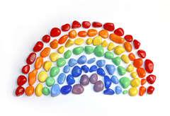 Цветная галька для декора и занятий с детьми