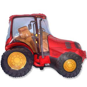 Фольгированный шар Трактор красный 65см Х 93см