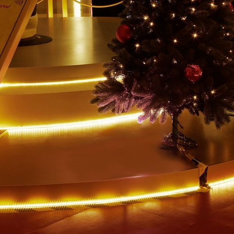 подсветка гирлянды дюралайт желтой цвет LED