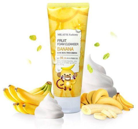 МЛТ Пенка для умывания банановая MILATTE FASHIONY FRUIT FOAM CLEANSER - BANANA 150мл (10702070/15081