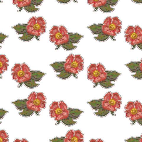 Винтажные цветы в стиле римской мозаики