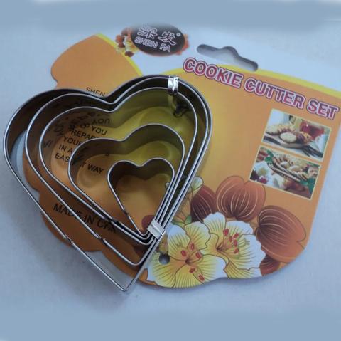 Набор форм для пряников и печенья Сердца 5 шт, металл
