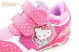Светящиеся кроссовки для девочек Хелло Китти (Hello Kitty) на липучках, цвет розовый, мигает картинка сбоку. Изображение 13 из 15.