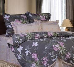 Сатиновое постельное бельё  1,5 спальное Сайлид  В-175