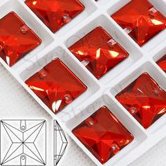 Купите оптом стразы пришивные квадратные Light Siam красные