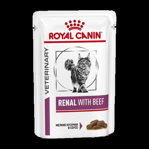 Royal Canin Renal S/O Консервы для кошек с хронической почечной недостаточностью с говядиной (Пауч)