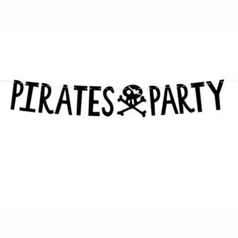 Гирлянда-буквы PIRATES PARTY
