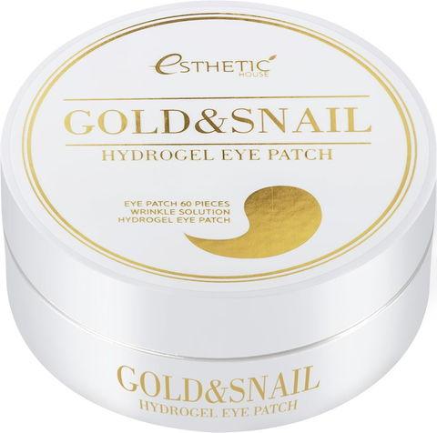 Гидрогелевые патчи для глаз ЗОЛОТО/УЛИТКА  Gold&Snail Hydrogel Eye Patch, 60 шт ESTHETIC HOUSE
