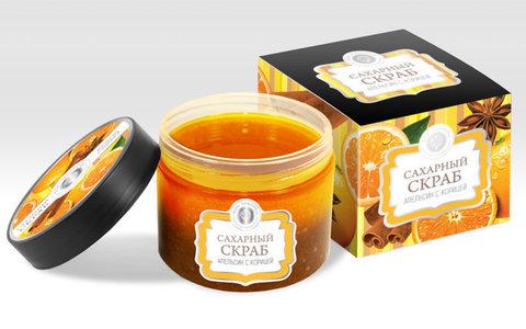 Сахарный скраб «Апельсин с корицей»™Мануфактура Дом Природы