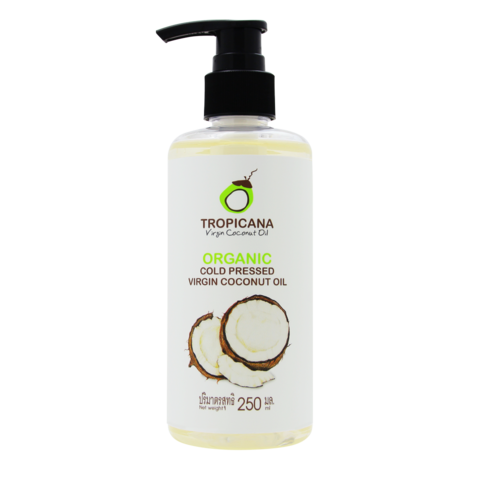 Кокосовое масло TROPICANA Organic cold pressed virgin coconut oil,  250 мл.