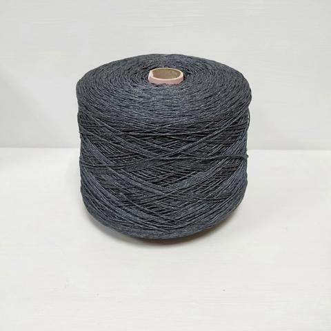 Cordonetto, Хлопок 100%, Темно-синий с серым, мерсеризованный, 220 м в 100 г