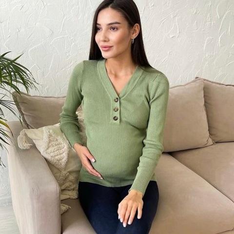 Джемпер для беременных и кормящих цвет софтграсс