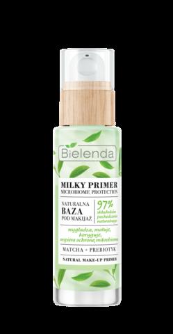 MILKY PRIMER MICROBIOME PROTECTION Натуральная корректирующая основа под макияж МАТЧА + ПРЕБИОТИК, 30 мл