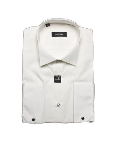Сорочка мужская приталенная slim fit GIOBERTI цвета шампань под запонки (носить с бабочкой)
