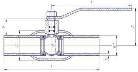 Конструкция LD КШ.Ц.П.GAS.500/400.025.Н/П.02 Ду500