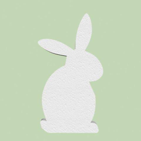 Заяц из пенопласта