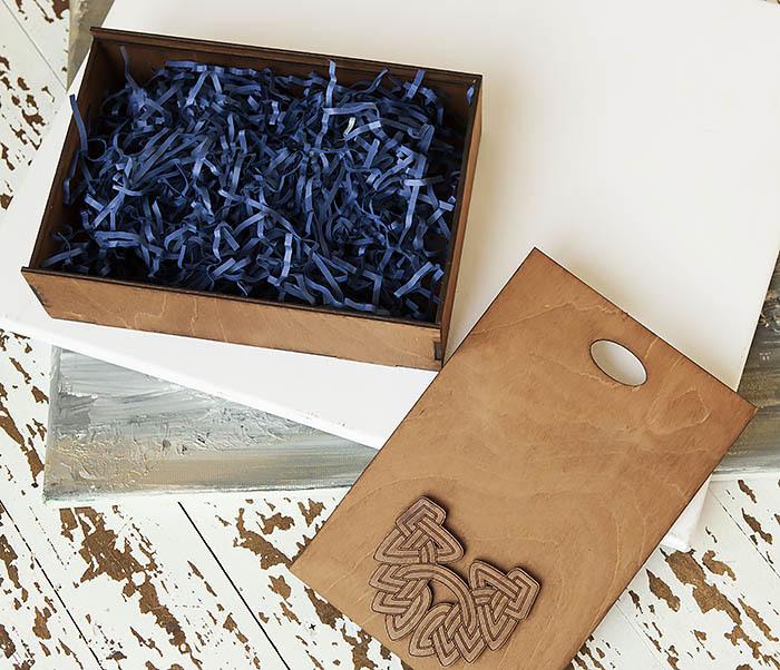 BOX230-2 Фирменная коробка для подарков коричневого цвета (18*26*7,5 см) фото 07