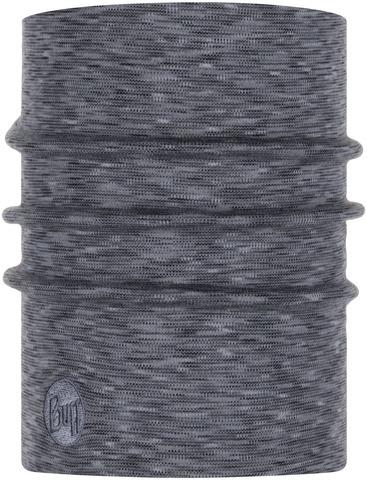 Теплый шерстяной шарф-труба Buff Wool heavyweight Fog Grey Multi Stripes фото 1
