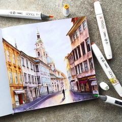 Touch Marker Pad скетчбук альбом для рисования с пропиткой для маркеров А5 148х210 мм 20л 75г/м2