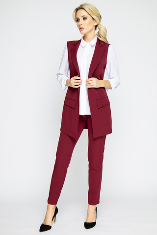 """<p>Очень удобные офисные брюки с карманами. Пояс на резинке. Отлично сочетаются с жилетом """"Бланка"""" из новой осенней коллекции 2020.</p>"""