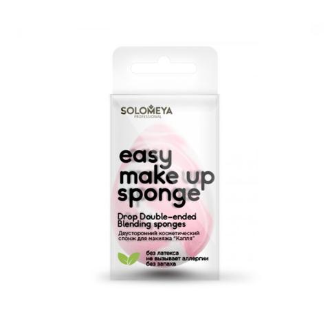 Solomeya Двусторонний косметический спонж для макияжа Drop Double-ended Blending Sponge