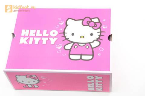 Светящиеся кроссовки для девочек Хелло Китти (Hello Kitty) на липучках, цвет розовый, мигает картинка сбоку. Изображение 15 из 15.