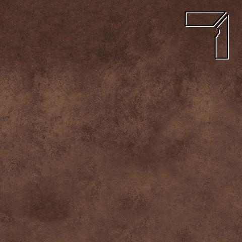 Interbau - Nature Art, Umbra braun/Кофейный, цвет 124 - Клинкерный плинтус ступени правый